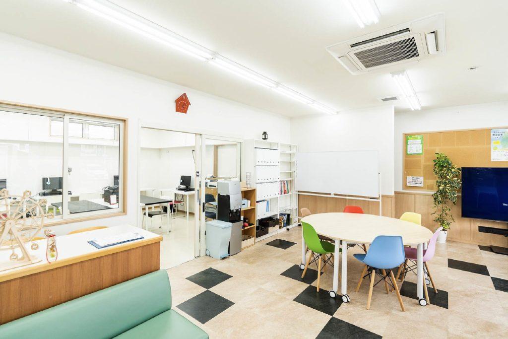 川中島高等学校教室の様子